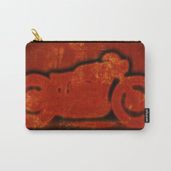 Metalic Red Carry-All Pouch