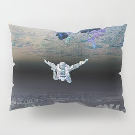 A Skydiver Between Two Parallel Universes Pillow Sham