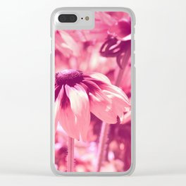 Flower Pink 0144 Clear iPhone Case