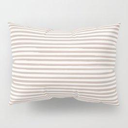 Skinny Stroke Horizontal Nude on Off White Pillow Sham