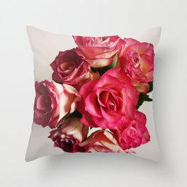 Roses bought with love don't die that easily Throw Pillow