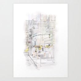 The reflection of a big city Art Print
