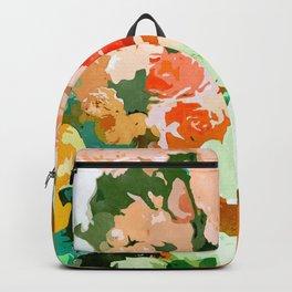 Velvet Floral, Summer Eclectic Botanical Blossom Blush Painting, Nature Colorful Garden Illustration Backpack