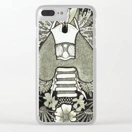 The Anatomical Thyroid- Organs and Herbs series Clear iPhone Case
