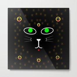 Dark Night with dark cats Metal Print