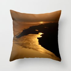 Golden Hour at the Prayag Throw Pillow