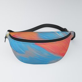 Warm stream, abstract painting Fanny Pack