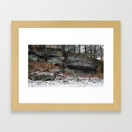 A Fall Day in New England Framed Art Print