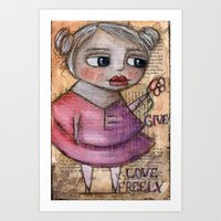 Give Love Freely Art Print