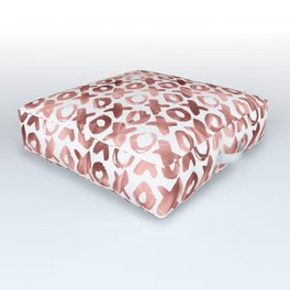 XOXO Kiss Me Rose Gold Pattern Outdoor Floor Cushion