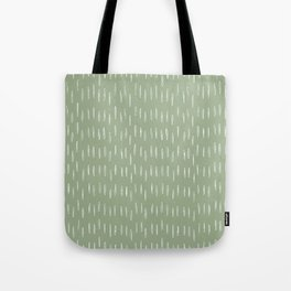 Raindrop Boho Abstract Pattern, Sage Green Tote Bag