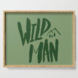 Wild Man x Green Serving Tray