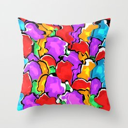 Colorful Scrambled Eggs Throw Pillow