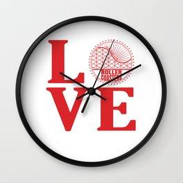 Roller Coaster Love Wall Clock