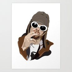 Kurt Smoking Art Print
