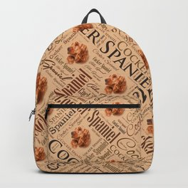 Cocker Spaniel Word Art Backpack