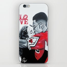 Black Love- Dwayne & Whitley iPhone Skin