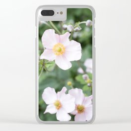 Pink Anemonies after the Rain Clear iPhone Case