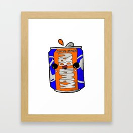 Kawaii Cute Irn-Bru Can Framed Art Print