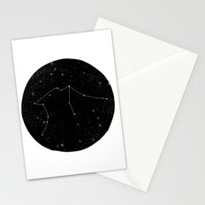 Aquarius constellation star sign zodiac black and white art gifts Stationery Cards