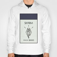 skyrim Hoodies featuring Skyrim Monopoly Location by HuckBlade