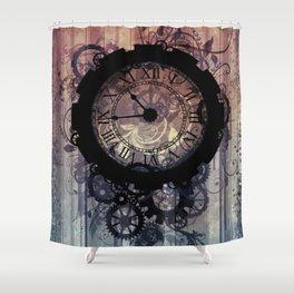 Steampunk clock Shower Curtain