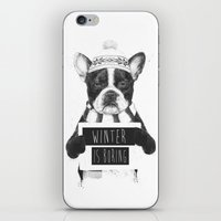 snowboarding iPhone & iPod Skins featuring Winter is boring by Balazs Solti
