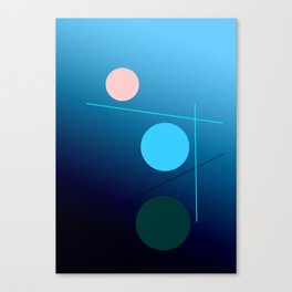 The 3 dots, power game 9 Canvas Print