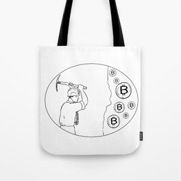 Bitcoin Miner Cryptocurrency Drawing Tote Bag