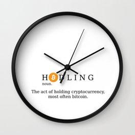 Bitcoin Hodling (BTC Hodl) Wall Clock