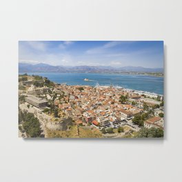 Nafplio from above Metal Print