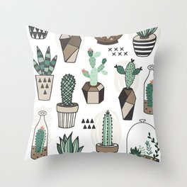 S(weet)ucculent Dreams Throw Pillow