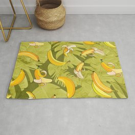 Banana & Leaves Pattern Rug