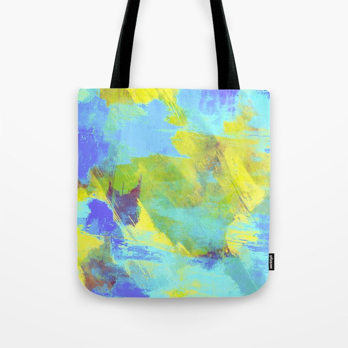 Hint Of Summer - Abstract, textured painting Tote Bag