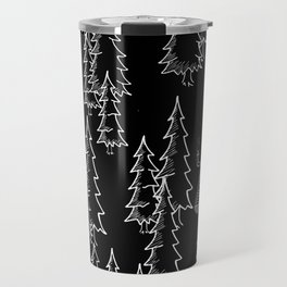Lost in the wood, a lonely cabin (revers) Travel Mug