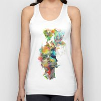 black white Tank Tops featuring Dream Theory by Archan Nair
