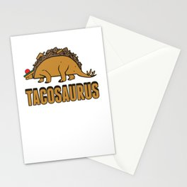 Tacosaurus Funny Taco Stegosaurus Cinco De Mayo Humor Design Stationery Cards