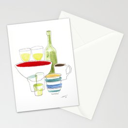 Bowls and Glasses Stationery Cards