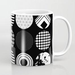 Ecelctic Geometric 2 - Black and white multi patterned design Coffee Mug