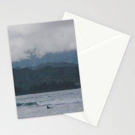 Lone Surfer - Hanalei Bay - Kauai, Hawaii Stationery Cards