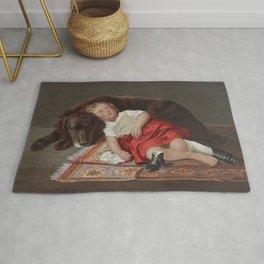 Faithfull Watcher Vintage Dog Art, 1871 Rug