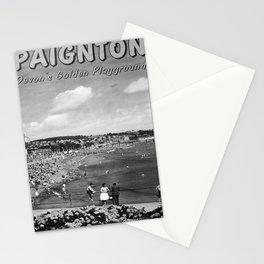 retro monochrome Paignton retro poster Stationery Cards