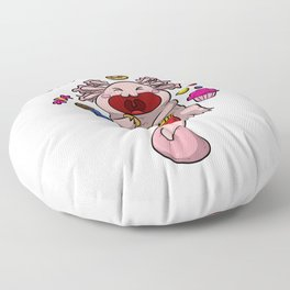 Axolotl Snaxolotl Shirt Funny Animal Pet Puns Kids Floor Pillow