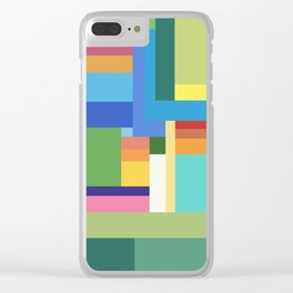 Green Geometry Clear iPhone Case
