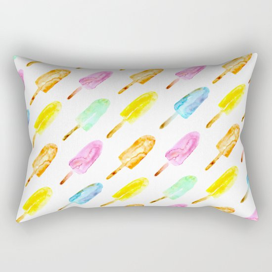Watercolor popsicles Rectangular Pillow