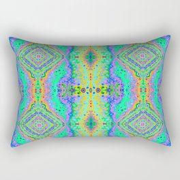 Flowing Life Art Fractal 3B Quad - Organic River Rectangular Pillow