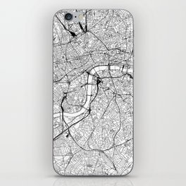 London White Map iPhone Skin