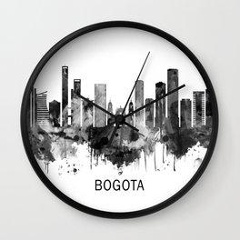 Bogota Colombia Skyline BW Wall Clock
