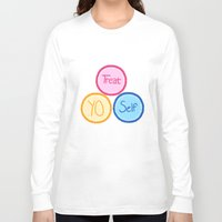 treat yo self Long Sleeve T-shirts featuring Treat Yo Self by Abby Mitchell