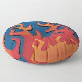Classic Hot Rod Fire Flames Floor Pillow
